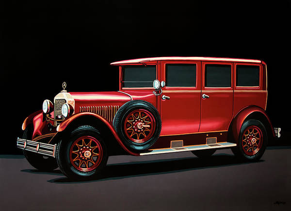 Oldtimer Wall Art - Painting - Mercedes-benz Typ 300 Pullman Limousine 1926 Painting by Paul Meijering