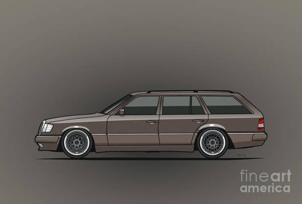 Mercedes Benz W124 E-class 300te Wagon - Anthracite Grey Art Print
