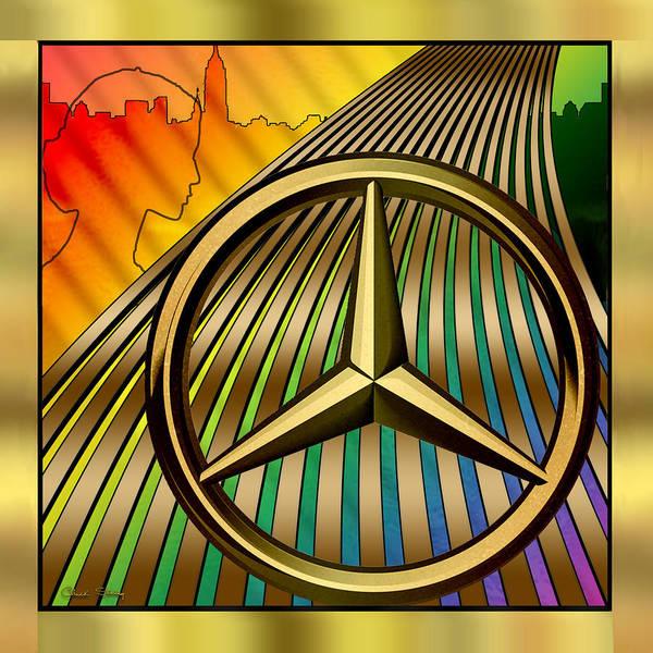 Digital Art - Mercedes by Chuck Staley