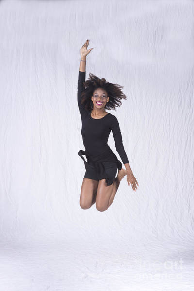 Photograph - Mercedes Dancer Modeling In Studio Jumping by Dan Friend