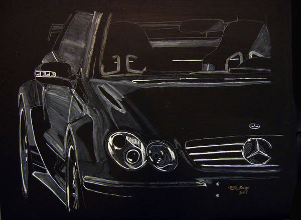 Painting - Mercedes Sl  by Richard Le Page