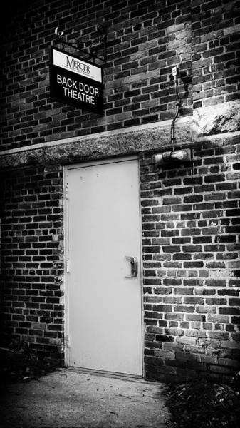 Wall Art - Photograph - Mercer Back Door Theatre by Stephen Stookey