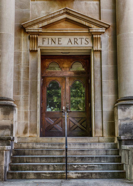 Wall Art - Photograph - Mercer University - Fine Arts Door #1 by Stephen Stookey