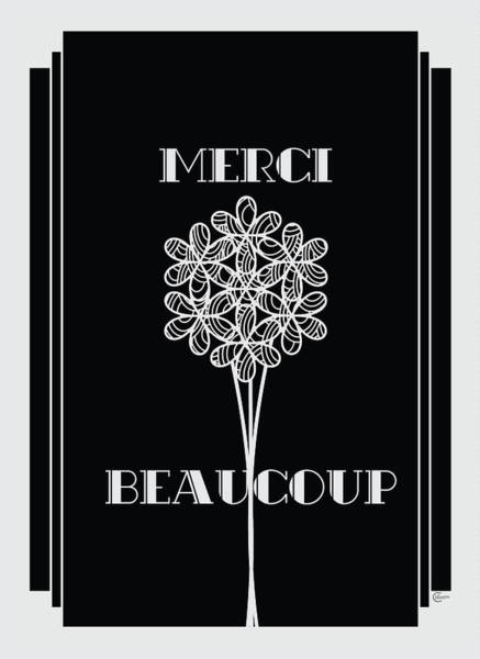 Francaise Painting - Merci Beaucoup Art Deco Style by Cecely Bloom