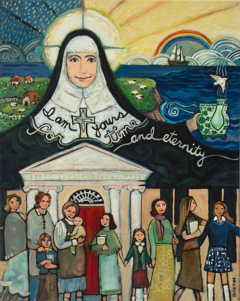 Mercy Wall Art - Painting - Mercy Foundress Catherine Mcauley by Jen Norton