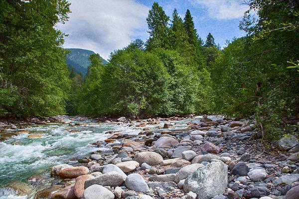 Photograph - Merging Rivers And Many Rocks Landscape Photography By Omashte by Omaste Witkowski