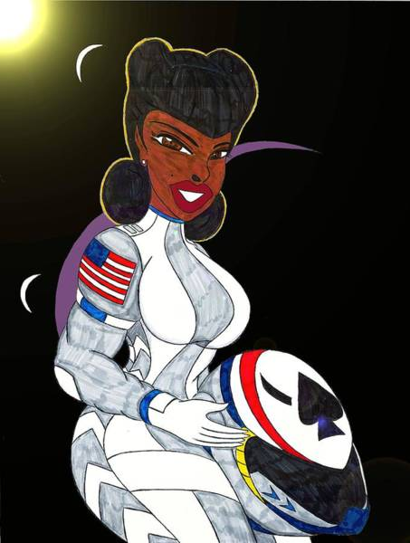 Space Exploration Mixed Media - Merideth The Pathfinder by Ronald Woods