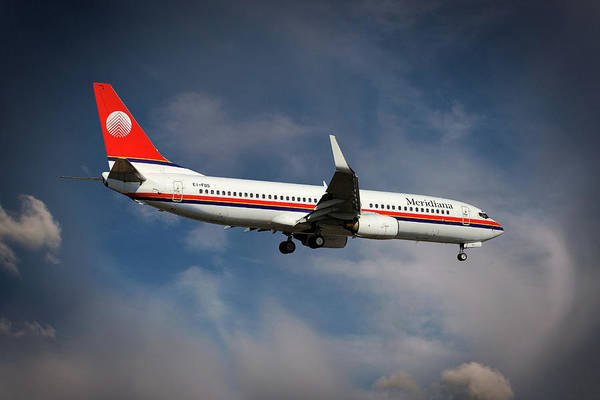 Boeing Wall Art - Photograph - Meridiana Boeing 737-86n by Smart Aviation