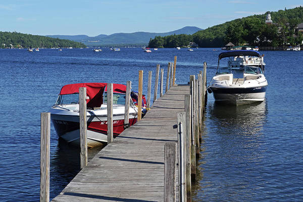 Photograph - Meredith Nh Pier Lake Winnepesaukee by Toby McGuire
