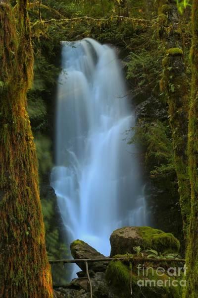 Photograph - Meriman Falls Golden Frame by Adam Jewell