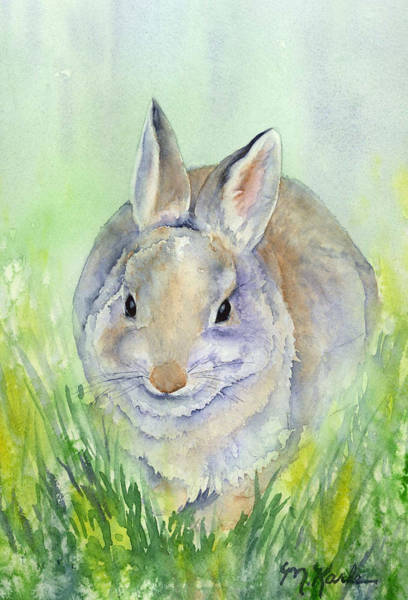 Painting - Meriwether Cottontail by Marsha Karle