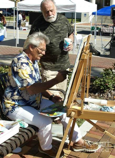 Plein Air Photograph - Merle And Me Outdoors by Charles Peck