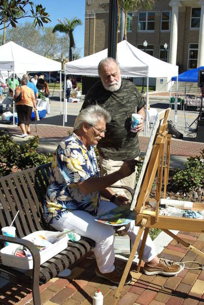 Plein Air Photograph - Merle Hummell Watches Me Paint by Charles Peck