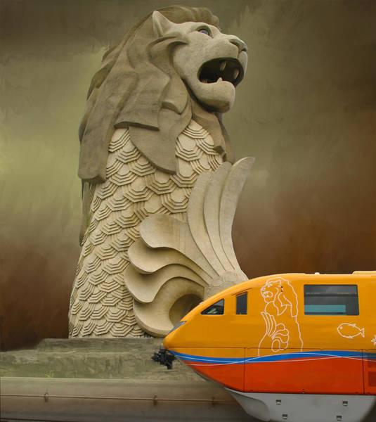 Lion Statue Photograph - Merlion Monument by Art Spectrum