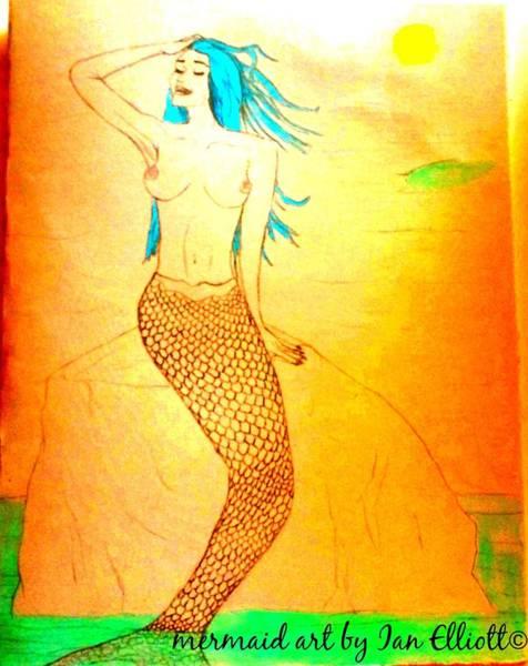 Wall Art - Painting - Mermaid  by Angelina Elliott