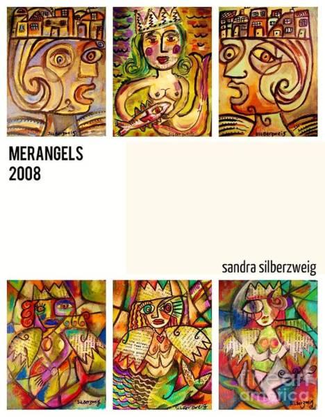 Painting - 0 Mermaid-angels by Sandra Silberzweig