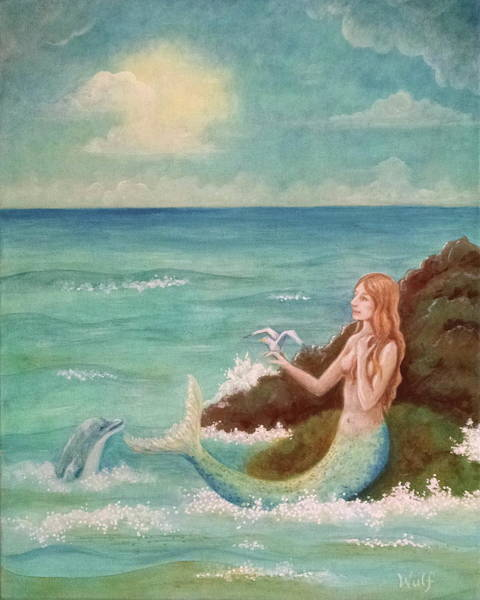 Painting - Mermaid Dreams by Bernadette Wulf