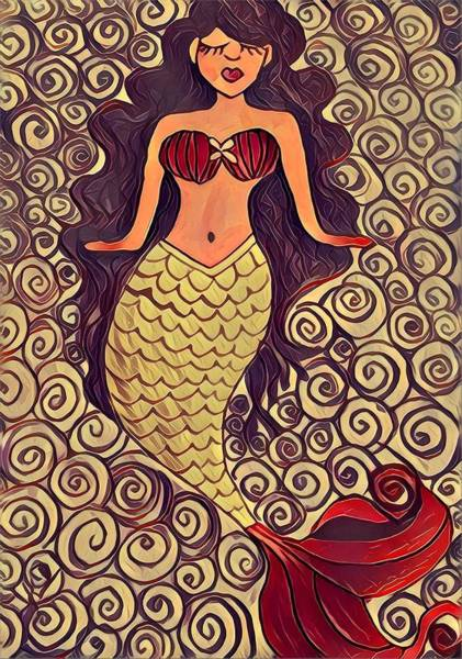 Drawing - Mermaid Dreams by K Daniel
