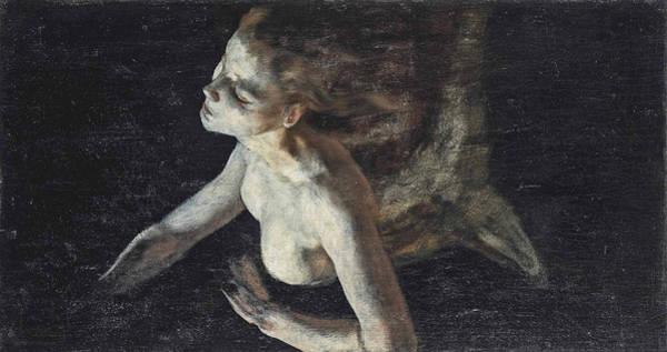 Wall Art - Painting - Mermaid by Evariste Vital Luminais