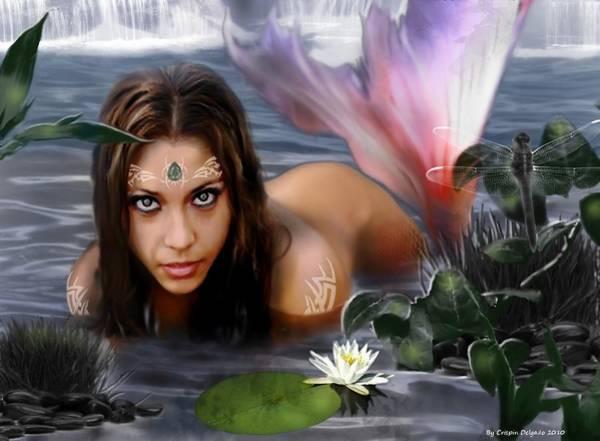 Lagoon Digital Art - Mermaid Lagoon by Crispin  Delgado