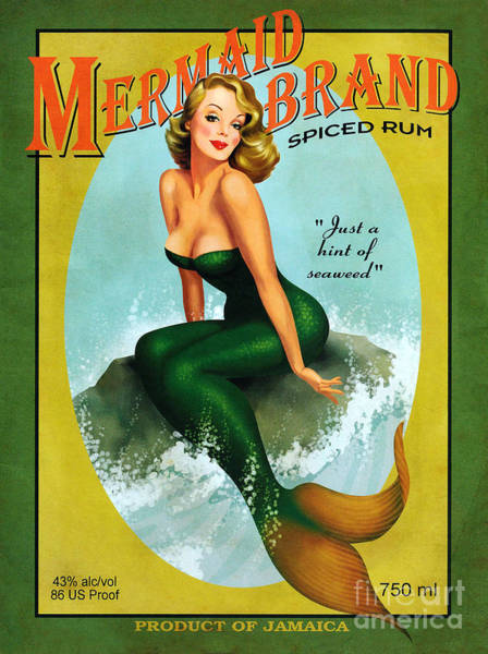 Wall Art - Photograph - Mermaid Spiced Rum by Jon Neidert