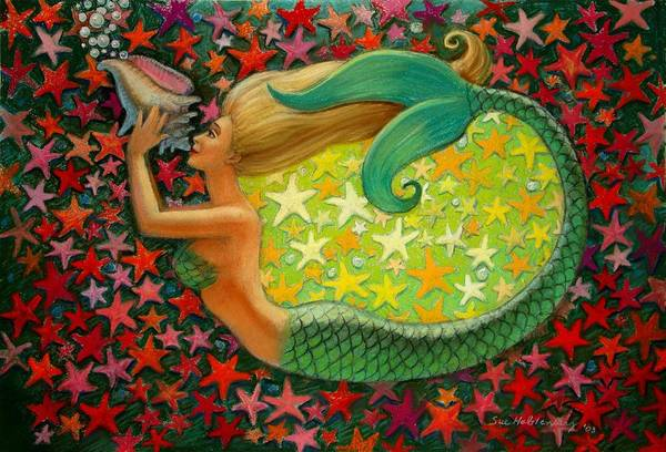 Wall Art - Painting - Mermaid's Circle by Sue Halstenberg