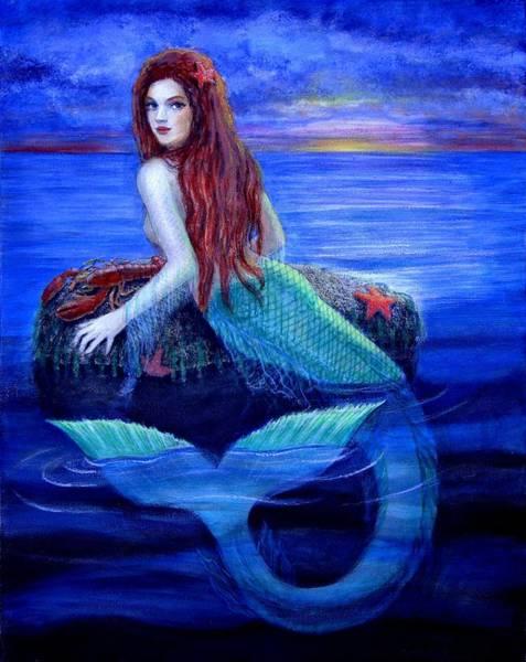 Wall Art - Painting - Mermaid's Dinner by Sue Halstenberg