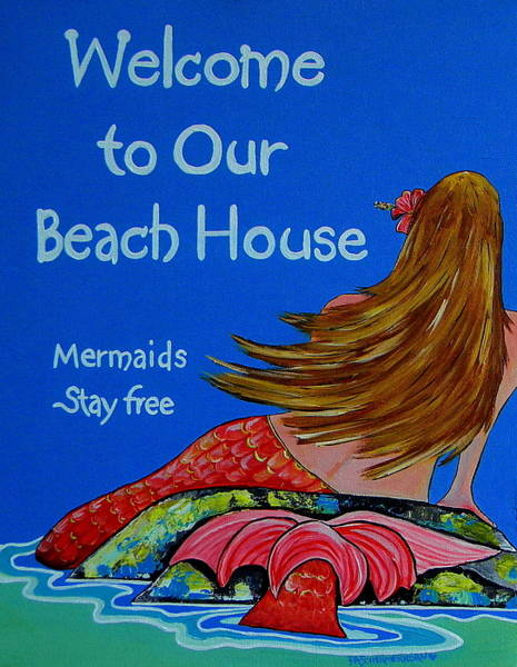 Painting - Mermaids Stay Free by Patti Schermerhorn