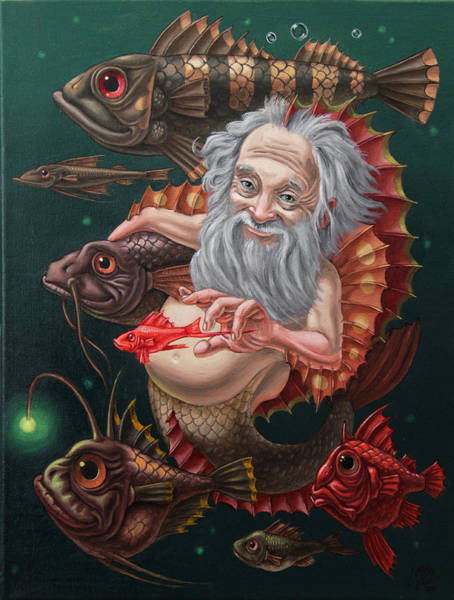 Painting - Merman by Victor Molev