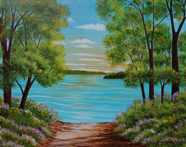 Wall Art - Painting - Merrimac River Groveland Mass. by Carol Sabo