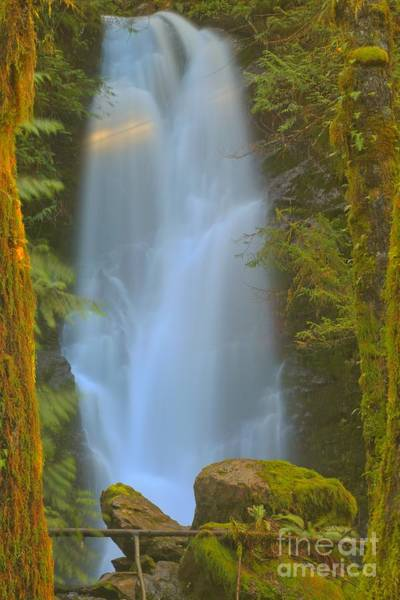 Photograph - Merriman Falls Through The Woods by Adam Jewell