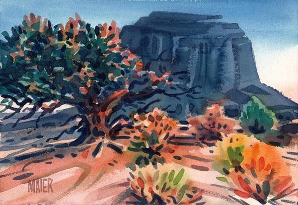 Monument Valley Painting - Merrit Butte by Donald Maier
