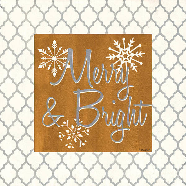 Gray Painting - Merry And Bright by Debbie DeWitt
