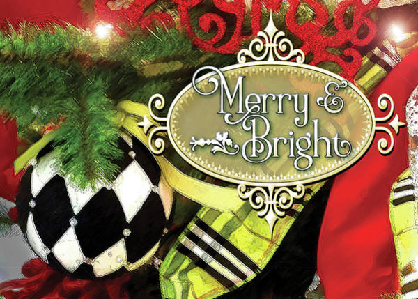 Digital Art - Merry And Bright by Gina Harrison