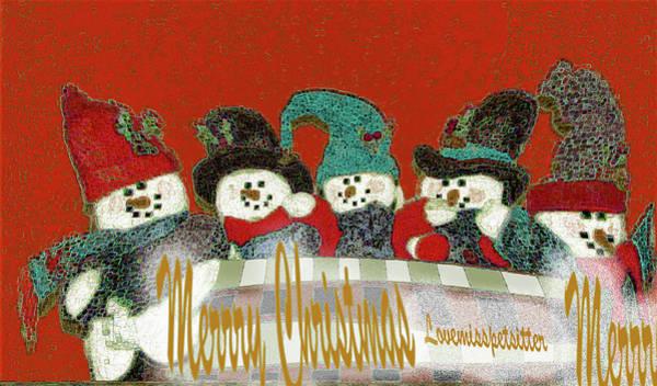 Digital Art - Merry Christmas Art 40 by Miss Pet Sitter
