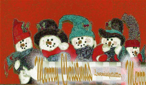 Digital Art - Merry Christmas Art 42 by Miss Pet Sitter