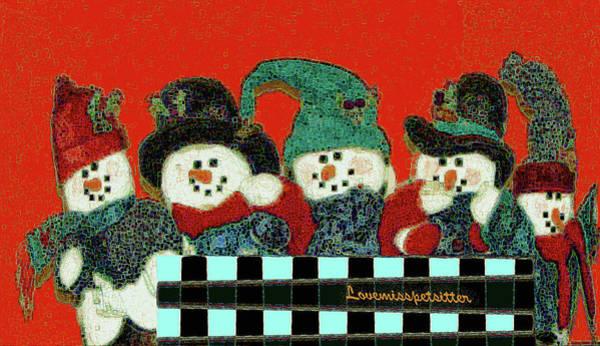 Digital Art - Merry Christmas Art 43 by Miss Pet Sitter