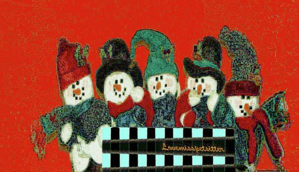 Digital Art - Merry Christmas Art 45 by Miss Pet Sitter