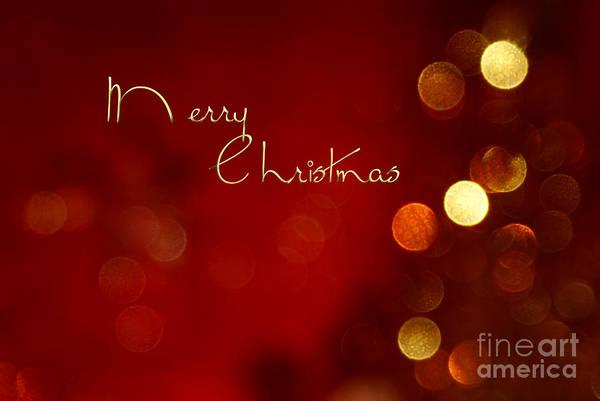 Aimelle Photograph - Merry Christmas Card - Bokeh by Aimelle