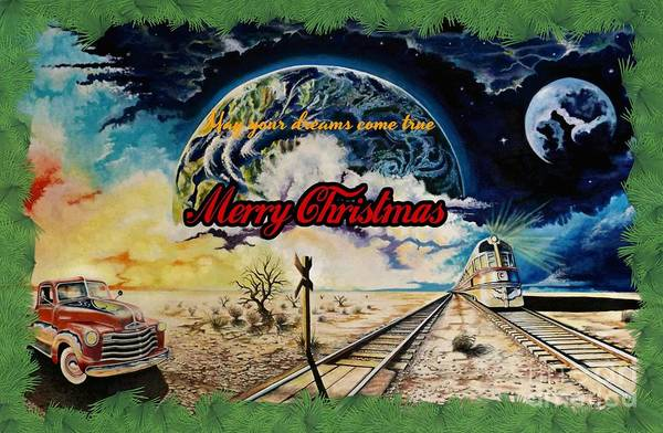 Drawing - Merry Christmas by David Neace