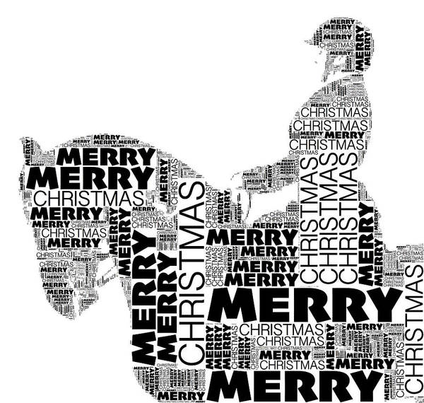 Photograph - Merry Christmas Dressage Wordart by Alice Gipson