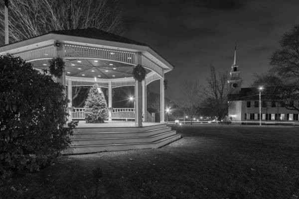 Photograph - Merry Christmas From Milton Massachusetts In Black And White by Brian MacLean