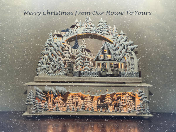 Photograph - Merry Christmas From Our House To Yours  by Lucinda Walter