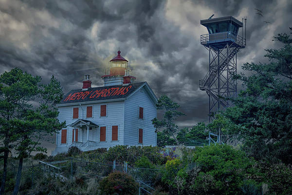 Photograph - Merry Christmas From Yaquina Bay by Bill Posner