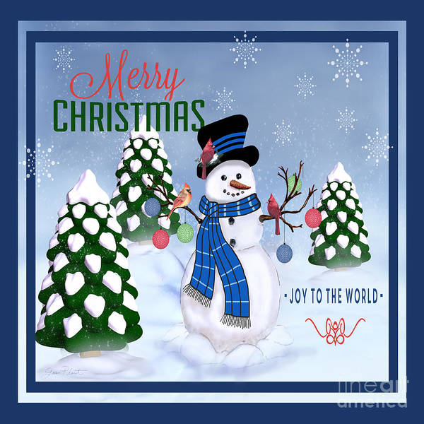 Wall Art - Painting - Merry Christmas-jp3121-sq by Jean Plout