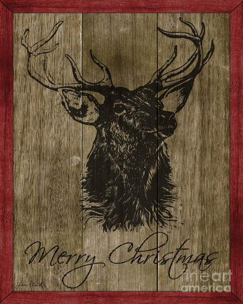 Black Buck Wall Art - Painting - Merry Christmas-jp3456 by Jean Plout