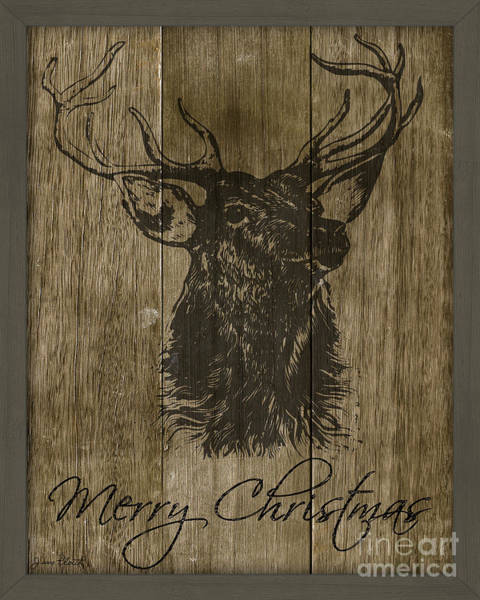 Black Buck Wall Art - Painting - Merry Christmas-jp3457 by Jean Plout