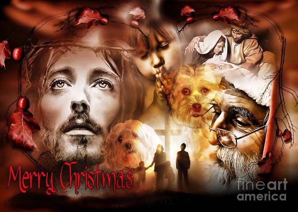 Digital Art - Merry Christmas by Kathy Tarochione