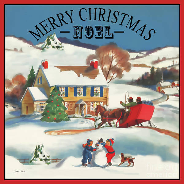 Wall Art - Painting - Merry Christmas Noel by Jean Plout