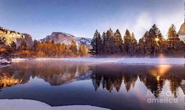 Shrub Mixed Media - A Nice Winter Scene by Rod Jellison